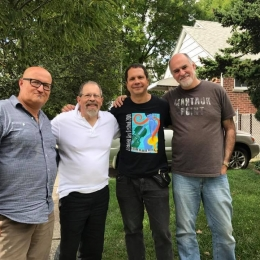 A happy jam session reunion with my old college buddies: Chris Pasin, Jed Levy and Steve Johns. Queens, 9/17.